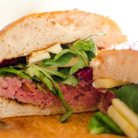 Detalle Corte hamburguesa Caramelizada