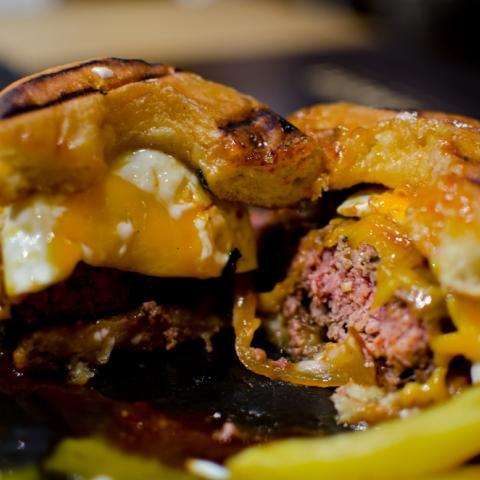 Detalle Corte Donut Burger Sublime