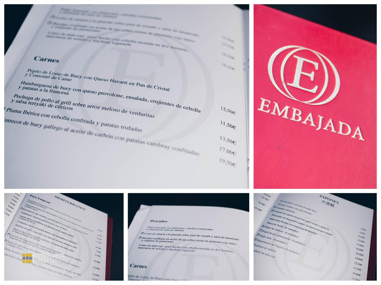 Collage Carta La Embajada